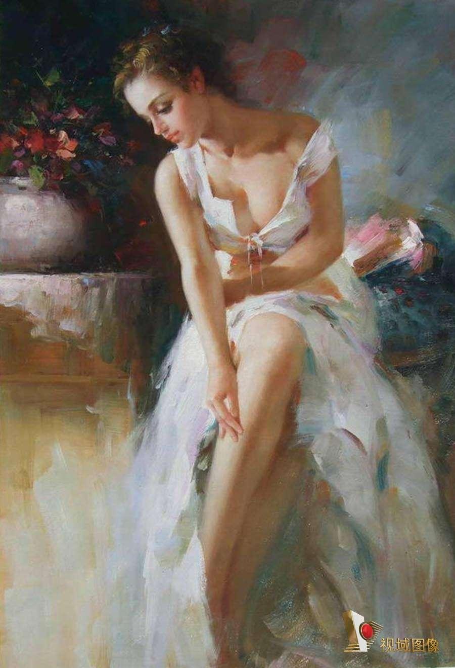 印象派人物油画作品欣赏——意大利画家皮诺 德埃尼